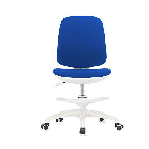 Ergonomic Kids Study Chair, Auto Brake Casters, Multi Function Computer Desk Chair, Adjustable Home Children Study Chair (Blue)