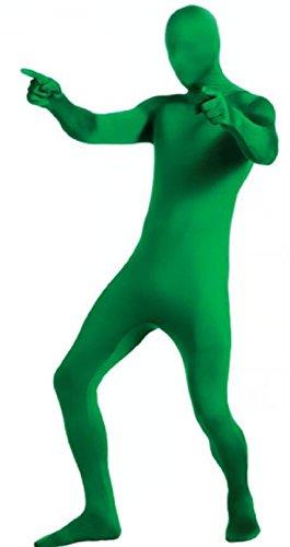Matissa Disfraz de Cuerpo Completo para Adulto Spandex Unisex Traje de pies a Cabeza de Mujer y Hombre (Verde, Large)