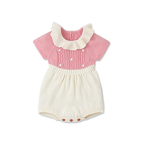 Gyratedream baby gebreid patchwork kleur rompertje kinderen body jumpsuit Large P