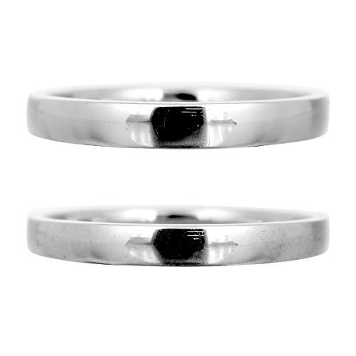 [ココカル]cococaru 結婚指輪 ペアリング シルバー 平甲丸2本セット 日本製 (レディースサイズ14号 メンズサイズ12号)