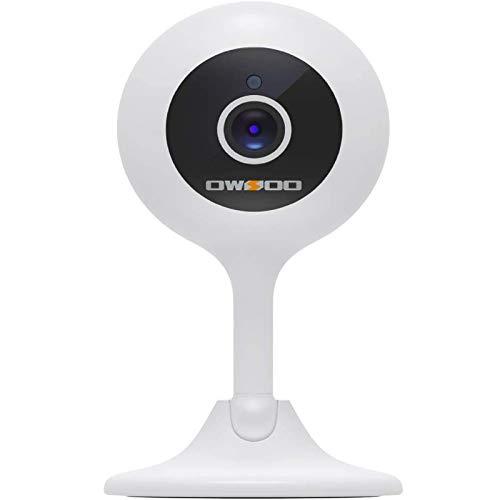 OWSOO Vigilabebés Inalambrico con Cámara,1080P Cámara IP Camara vigilancia WiFi Interior con Detección de Movimiento, Audio Bidireccional,Visión Nocturna,Seguridad para Bebé y Mascotas