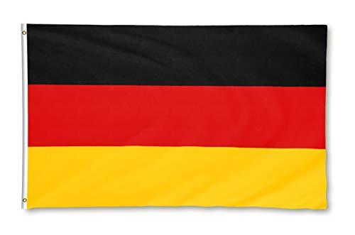 Star Cluster 90 x 150 cm Deutschland Flagge/Deutsche Fahne/Bundesflagge/Fanartikel/Germany National Flag (DE Gelb 90 x 150 cm)