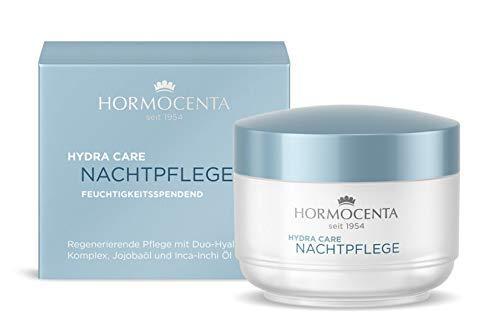 HORMOCENTA Hydra Care Nachtpflege - Regenerierende Pflege mit Duo-Hyaluron-Komplex, Sheabutter und Jojobaöl - 50 ml (+ Gratis Hologram Sticker)