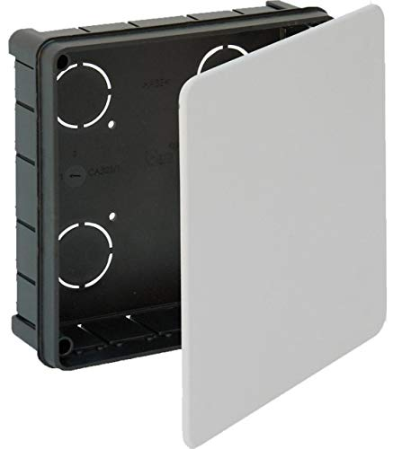 Solera 323 - Caja empalme y derivación. Con tapa con tornillos. De 150x150x50. 12 entradas para tubo Ø 32.
