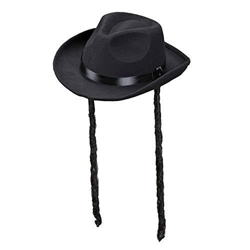Widmann 0593 V ? Chapeau de rabbin, en feutre brossé, Taille unique adulte