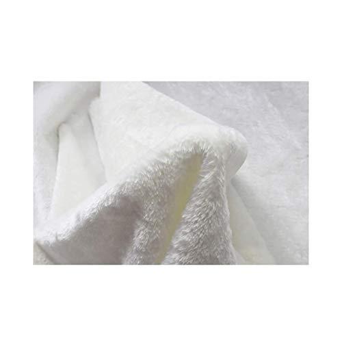 sxtylqq Decke, Fototuch Hintergrundtuch Weiße Decke Flanell Babydecke Kurzes Tuch Weißer Fototeppich (Größe: 150 \u0026 Times; 100cm)
