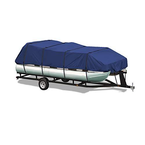 EliteShield 600 Denier Heavy Duty Trailerable UV Resistant Pontoon Deck Boat Storage Cover 21'-24'L Navy