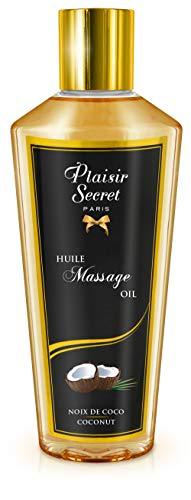 Plaisirs Secrets Huile de Massage Sèche Sensuelle 100% Végétale Noix de Coco 250 ml