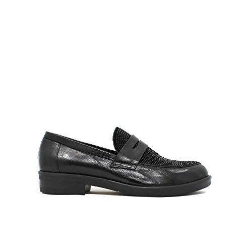 WHY NOT? - Zapatos de Vestir de Cuero para Mujer Negro Negro Negro Size: 40 EU