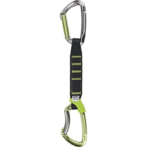 Climbing Technology Rinvio per arrampicata Lime verde/grigio fettuccia rastremata da 17 cm