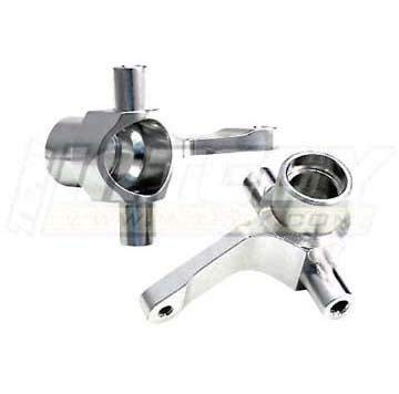 Integy RC Model Hop-ups T8103SILVER Alloy Steering Blocks for HPI Wheely King