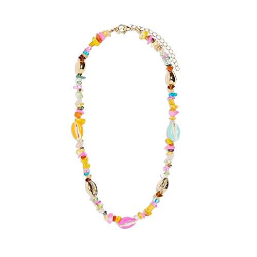 Fascigirl Collar De Encanto De Piedra De Concha De Coral Falso De Para Mujer Collar Decorativo Para Playa