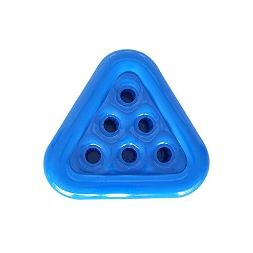 goodjinHH Getränkehalter Pool,Dreieckiger Pool Getränkehalter Schwimmend,Aufblasbarer-Getränkehalter Getränkekühler,Schwimm-Getränkehalter Flaschenhalter,für Poolparty,Pool Party Zubehör (blau)