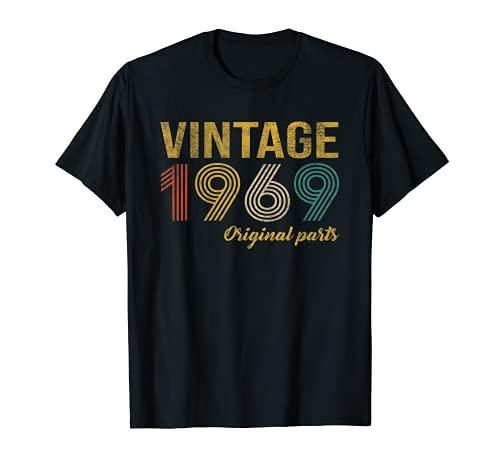 Vintage 1969 Regalo Original Hombre 52 Años Cumpleaños Mujer Camiseta