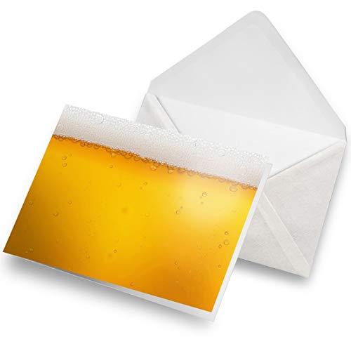 Biglietto Di Auguri (A5) – Awesome Macro Shot Birra Bicchiere Vuoto Biglietto Di Auguri Di Compleanno Per Bambini E Ragazze #13005