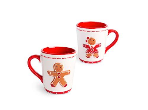 Excelsa Ginger Boy&Girl Set 2 Tazze Mug, Ceramica, Multicolore