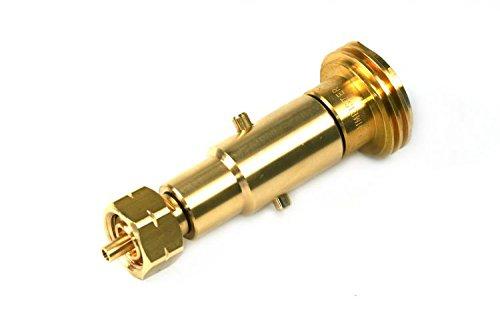 Drehmeister 2in1 Acme & Bajonett Tankadapter zum Befüllen von Gasflaschen mit KLF G.12 Gewinde (deutsche Gasflaschen)