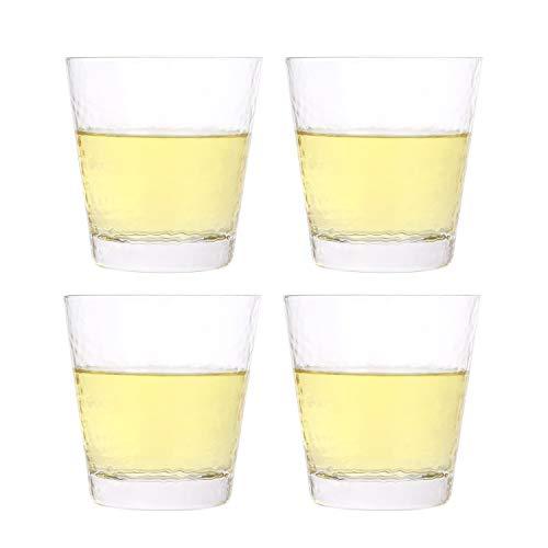 KKC Juego de 4 tazas medidoras transparentes en vidrio esmerilado resistente al calor de 230 ml, 4 piezas