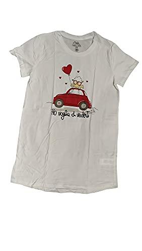 Happy People Maxi T-Shirt Donna Ho Voglia di vederti (48 XL IT Donna)