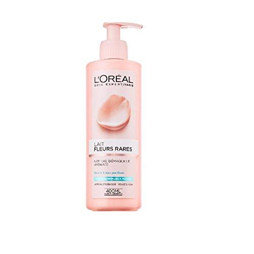 L'Oréal Paris Toilette aux Fleurs Lait Démaquillant Peaux Normales à Mixtes Rose/Lotus 400 ml