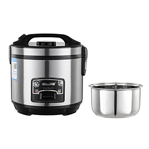 Cocinas de arroz y vapor (2-6L) Tazón de arroz removible 201 de acero inoxidable/Indicadores...