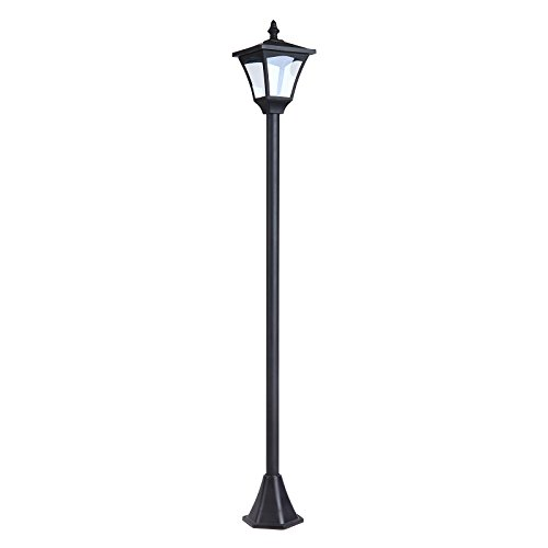 Outsunny Solar Laterne Gartenlaterne Wegleuchte mit LED 10 Lumen Schwarz 15 x 15 x 120cm