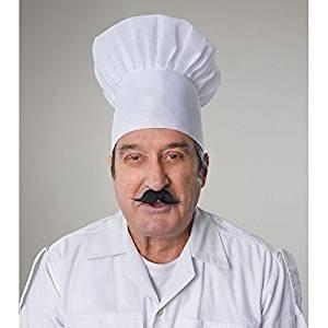 Chefs White Hat Fancy Dress Adults Cook Baker Celebrity Masterchef