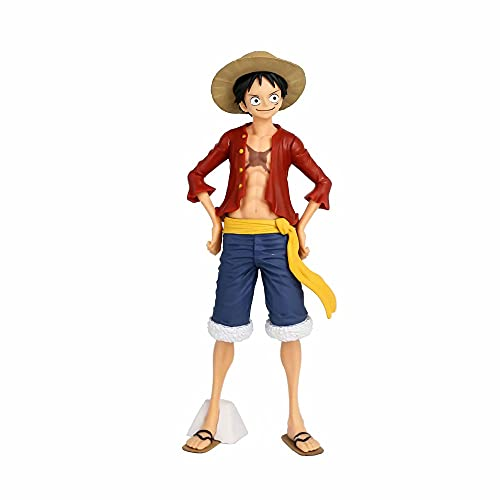 SYLYCS ONE PIECE Monkey·D·Luffy Changeable Emoji Group Anime Figure Figurines PVC Doll Boxed Cartoon Game Character Desktop Decoration Gift 3D Model-Hight 28CM