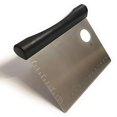 Kerafactum Teigschneider Teigschaber Teigspachtel Teig Spachtel mit ergonomischen Griff zur Teigbearbeitung Schaber für Teigabstecher Schlesinger aus Edelstahl 15 cm Bäckerspachtel ABS Backhelfer