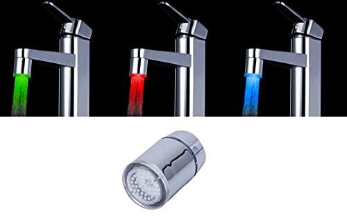 Haudang de Tres Colores LED de Aerosol del Sensor de Temperatura del Grifo de Agua