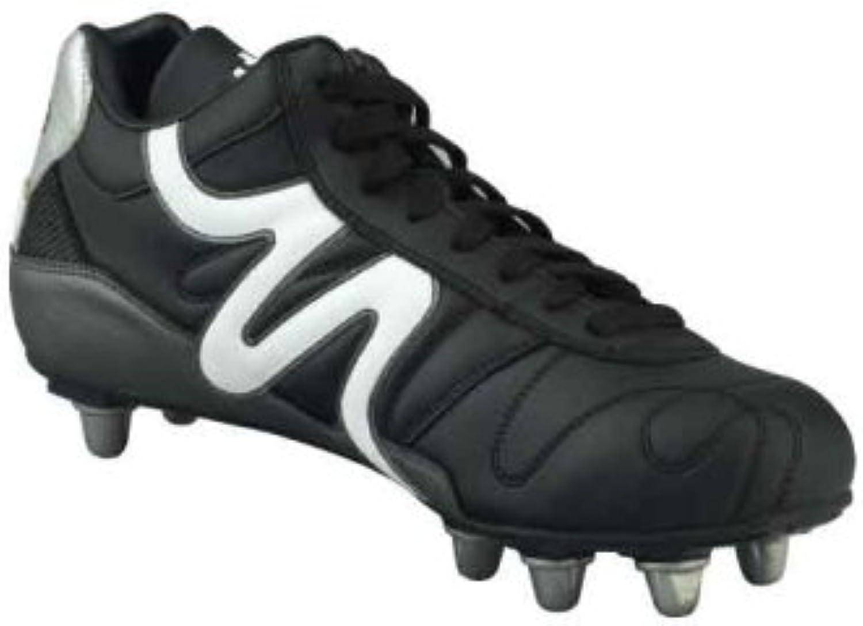Mitre Unisex Italia Kiwi Rugby Boot Black Size UK 8 EU 42