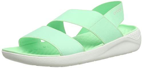 Crocs LiteRide Stretch Sandal W Women's Sandals, Neo Mint/Almost White, 10 US