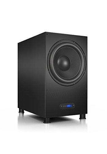 Nubert nuLine AW-1100 Subwoofer | Lautsprecher für Bass & Effekte | Surround & Action auf hohem Niveau | Aktivsubwoofer-Technik Made in Germany | LFE-Box mit 380 Watt | Subwoofer Schwarz