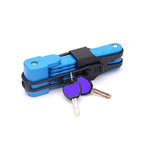 VARIJOY Compact Bike Lock, Extreme Bike Lock, Heavy Duty Bicycle Security Chain Lock Steel Bars (Blue)