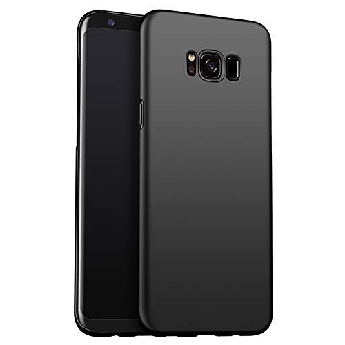 Amosry Compatibile con Cover Samsung Galaxy S8, Slim Fit, Anti-caduta, Resistenza all'attrito, Custodia Rigida, per Samsung Galaxy S8 (Nero)