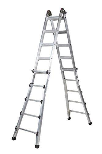 Arcama TE05 Escalera Telescópica, 5 + 5 X 2 Peldaños