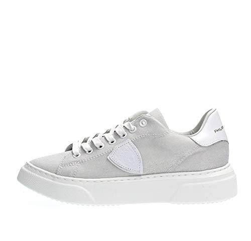 PHILIPPE MODEL PARIS BGLD GX05 Temple Sneakers Femme Argent 36