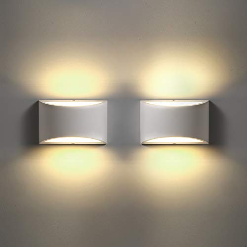 LED Wall Sconces Set of 2, Sconce Wall Lighting 9W 3000K Warm White Modern Wall Sconce for Stairway Bedroom Hallway Bathroom Porch Living Room Hotel (2 Pack)
