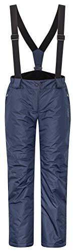 icefeld Damen Skihose/Snowboardhose/Schneehose, Marineblau in Größe S