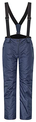 icefeld Damen Skihose/Snowboardhose/Schneehose, Marineblau in Größe L