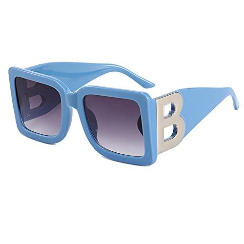 Gafas de sol de moda europeas y americanas de las mujeres de la playa de tinta