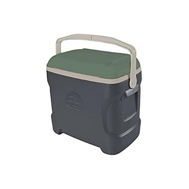 Igloo Sportsman Contour Cooler, 30 quart/28 L, Tactical Gray / Sand Dune Tan / Field Service Green