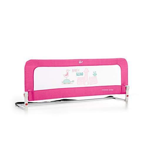 Innovaciones Ms Nido 3015- Barrera para cama de 2 alturas Abatible , 50 x 30 x 150 cm, Rosa