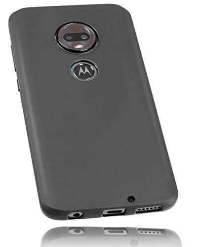 mumbi Hülle kompatibel mit Motorola Moto G7 Plus Handy Hülle Handyhülle, schwarz