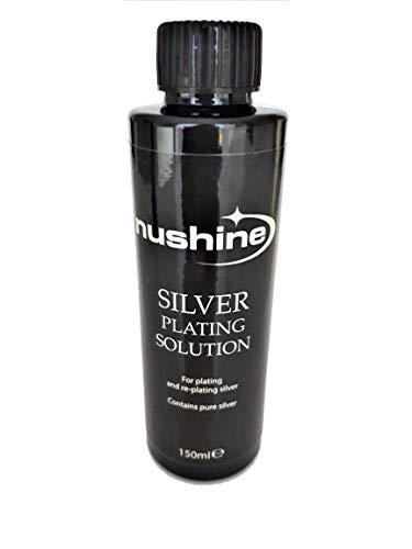 Nushine Silberpflege-Lösung, 150 ml, nachhaltige Wirkung für abgenutztes Silber, Messing, Kupfer und Bronze (umweltfreundliche Formel)