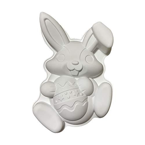 Gazechimp Large Size Easter Rabbit Silicone Cake Mold Mould Decorations Bakeware Trays Baking Tool