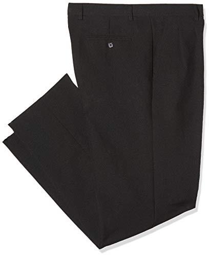 Isacco Pantalone Uomo 2 Pinces Nero, Nero, 48, 100% Poliestere, 170 gr/m²
