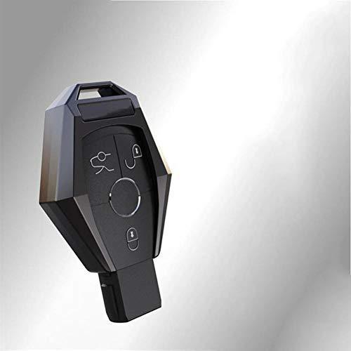 DkelBA Auto-Fernbedienungsschlüsselabdeckung ausverzinktem Aluminium, für Mercedes Benz W124 W176 W202 W203 W204 W205 W210 W212 W221 W222 W251