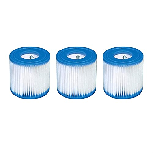HXiaoF 3 cartuchos de filtro de piscina tipo H de repuesto para filtro de piscina limpiador de bomba (color: blanco)