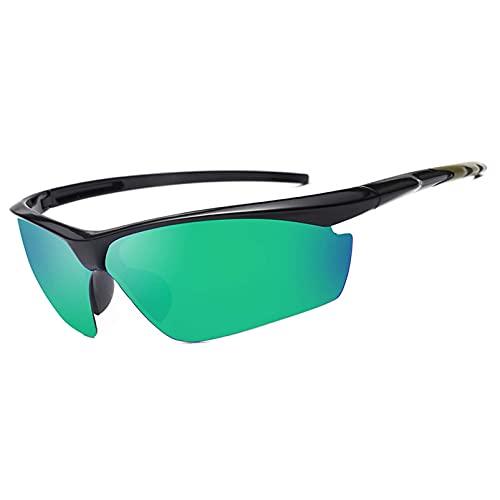 AMFG Gafas de sol deportivas al aire libre de los hombres Montar en bicicleta Gafas de sol Salida de pesca fuera del mar (Color : A, Size : M)